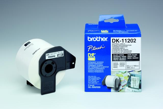 Etikett, Rolle, DK-11202, Versand, sk, Papier, 100x62mm, weiß