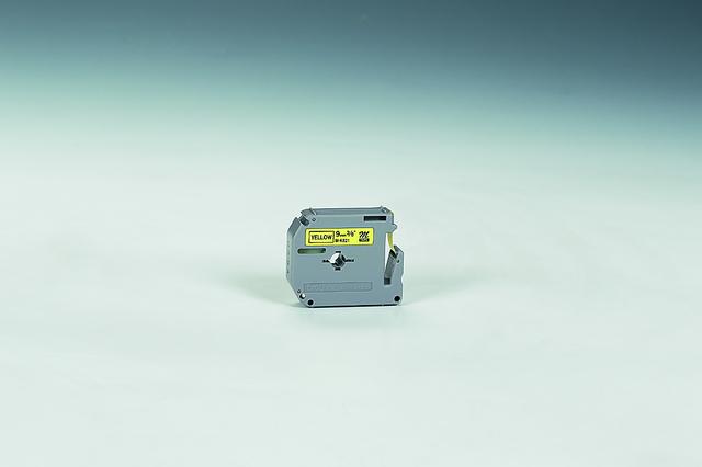 Schriftbandkassette M, unlam., 9mmx8m, schwarz auf gelb