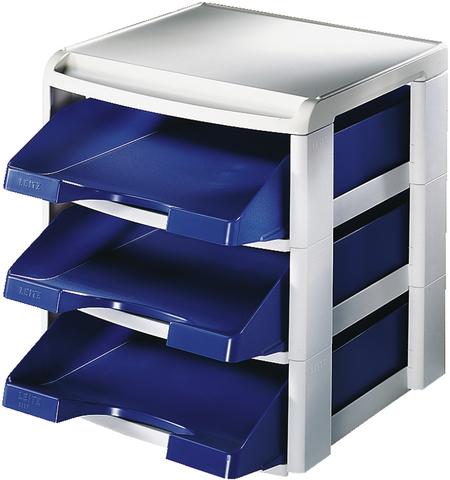 Briefkorbset, PS, A4, 290x360x315mm, blau