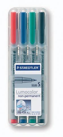 OH-Stift, Lumocolor® 311, S, non-perm., 0,4 mm, Schreibf.: 4er so