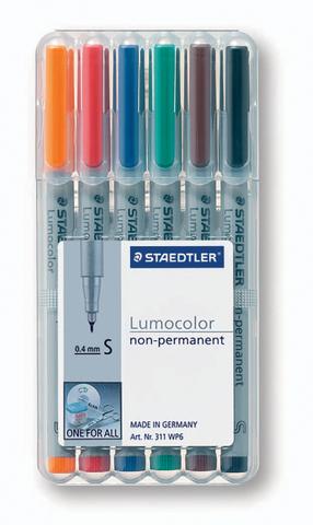 OH-Stift, Lumocolor® 311, S, non-perm., 0,4 mm, Schreibf.: 6er so