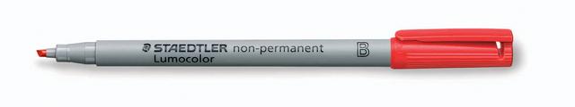 OH-Stift, Lumocolor® 312, B, non-perm., 1 - 2,5 mm, Schreibf.: rot