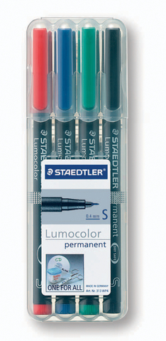 OH-Stift, Lumocolor® 313, S, perm., 0,4 mm, Schreibf.: 4er so