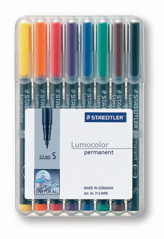 OH-Stift, Lumocolor® 313, S, perm., 0,4 mm, Schreibf.: 8er so