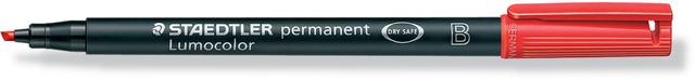 OH-Stift, Lumocolor® 314, B, perm., Ksp., 1-2,5 mm, Schreibf.: rot