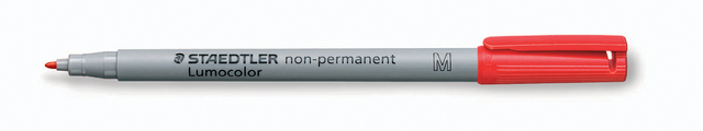 OH-Stift, Lumocolor® 315, M, non-perm., 1 mm, Schreibf.: rot