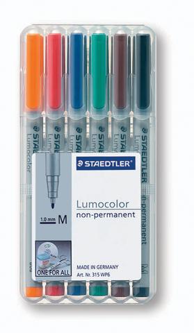 OH-Stift, Lumocolor® 315, M, non-perm., 1 mm, Schreibf.: 6er so