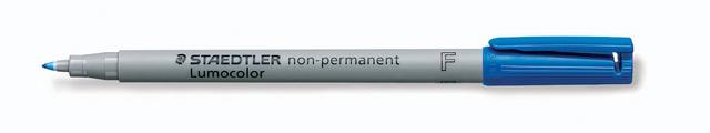OH-Stift, Lumocolor® 316, F, non-perm., 0,6 mm, Schreibf.: blau