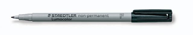 OH-Stift, Lumocolor® 316, F, non-perm., 0,6 mm, Schreibf.: schwarz