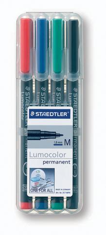 OH-Stift, Lumocolor® 317, M, perm., 1 mm, Schreibf.: 4er so