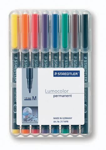 OH-Stift, Lumocolor® 317, M, perm., 1 mm, Schreibf.: 8er so