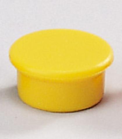 Magnet, rund, Ø: 13 mm, Haftkraft: 100 g, gelb