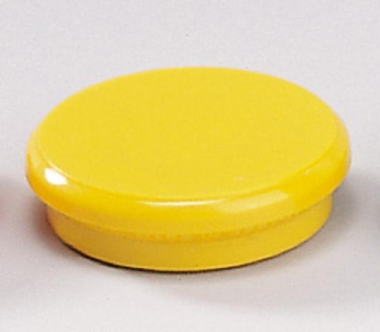 Magnet, rund, Ø: 32 mm, Haftkraft: 800 g, gelb