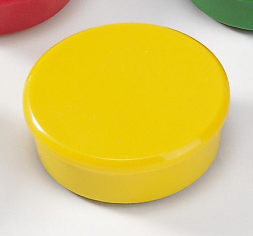 Magnet, rund, Ø: 38 mm, Haftkraft: 2.500 g, gelb