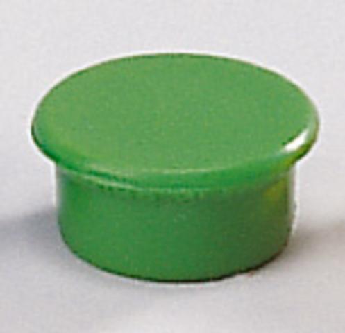 Magnet, rund, Ø: 13 mm, Haftkraft: 100 g, grün