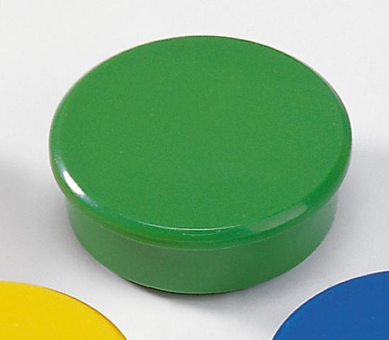 Magnet, rund, Ø: 38 mm, Haftkraft: 2.500 g, grün