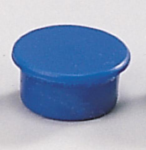 Magnet, rund, Ø: 13 mm, Haftkraft: 100 g, blau