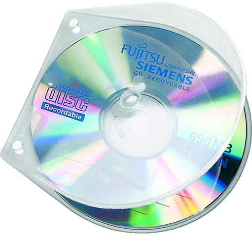 CD-Hülle VELOBOX®, PP, 125x125x4mm, für: 1 CD, farblos, transparent