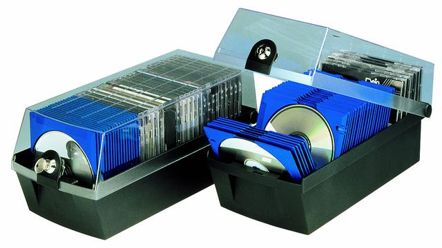 CD-Box MÄX 60, 168x365x150mm, für: 60CDs, sw