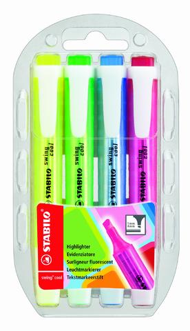 Textmarker swing® cool, Keilspitze, 1-4mm, Schreibf.: 4er sortiert