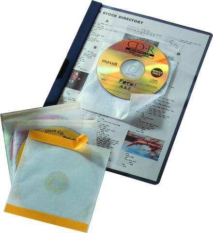 CD-Hülle Fix, PP, für: 1CD, farbl., tr