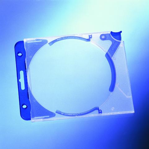CD-Hülle QUICKFLIP complete, für: 1CD, blau, tr