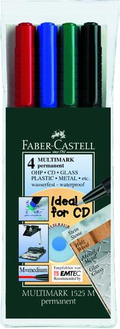 OH-Stift MULTIMARK, F, permanent, 0,6mm, Schreibf.: 4er sortiert