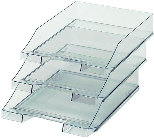 Briefkorb, PS, C4, 255x348x65mm, grau, transparent