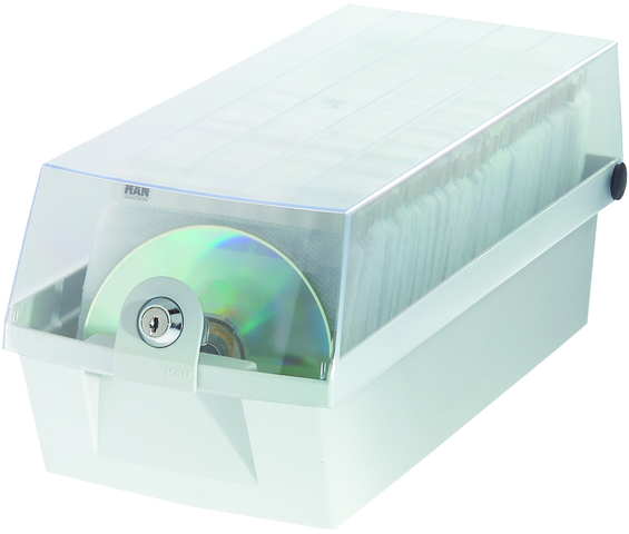 CD-Box MÄX 60, 168x365x150mm, für: 60CDs, grau