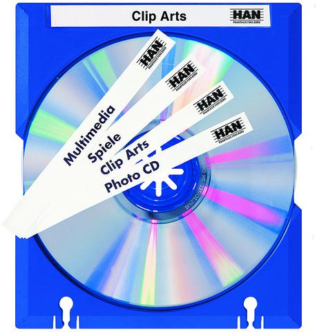 CD-Hülle MÄX, abheftbar, Kst., für: 1CD, blau