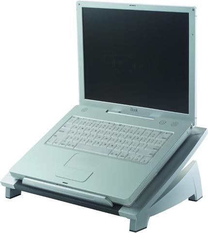 Laptopständer, stuf.los neigb., 38,4 x 28,9 x 11/16,5 cm, si/sw