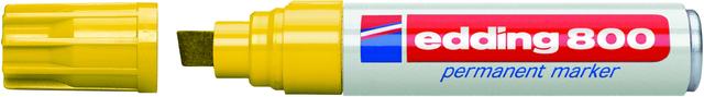 Permanentmarker 800, Keilspitze, 4 - 12 mm, Schreibf.: gelb
