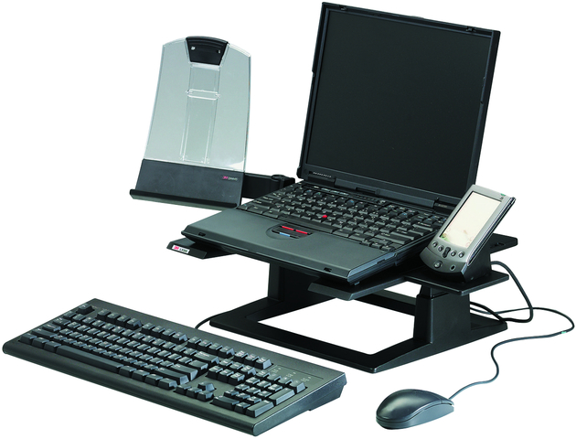 Laptopständer LX500, 33x33x10,2-15,2cm, sw