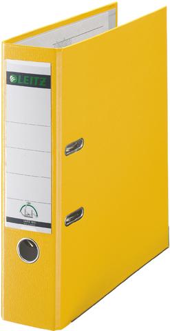 Ordner Plastik, PP-kasch., Einsteckrückenschild, A4, 80mm, gelb