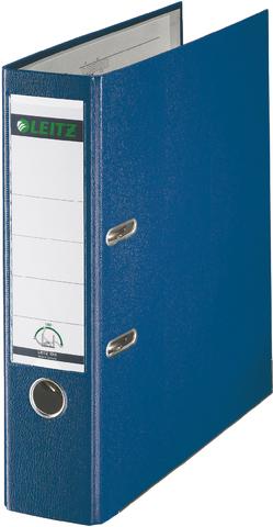 Ordner Plastik, PP-kasch., Einsteckrückenschild, A4, 80mm, blau