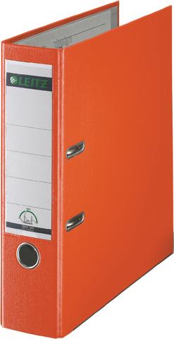 Ordner Plastik, PP-kasch., Einsteckrückenschild, A4, 80mm, orange