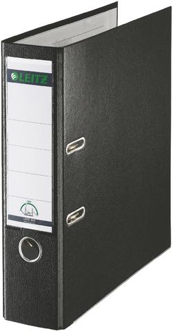 Ordner Plastik, PP-kasch., Einsteckrückenschild, A4, 80mm, schwarz