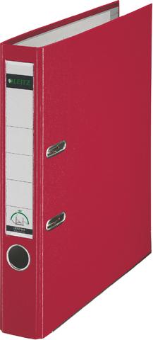 Ordner Plastik, PP-kasch., Einsteckrückenschild, A4, 52mm, rot