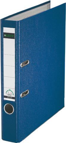 Ordner Plastik, PP-kasch., Einsteckrückenschild, A4, 52mm, blau