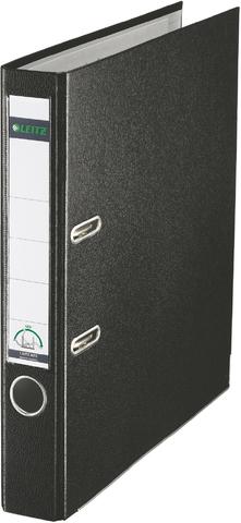 Ordner Plastik, PP-kasch., Einsteckrückenschild, A4, 52mm, schwarz