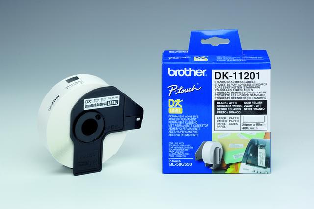 Etikett, Rolle, DK-11201, Adressen, sk, Papier, 90x29mm, weiß