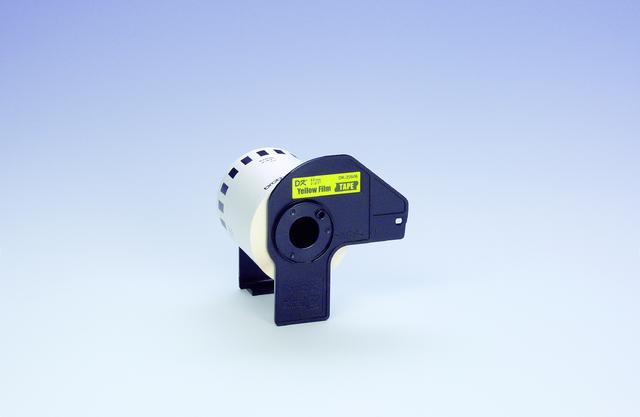 Etikett, Rolle, endlos, DK-22606, sk, Folie, 62mmx15,24m, gelb