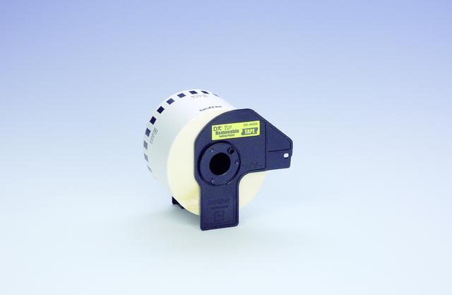 Etikett, Rolle, endlos, DK-44605, sk, abl., Papier, 62mmx30,48m, gelb