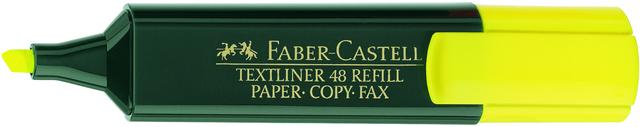 Textmarker 48 REF., Ksp., 1-5mm, Schaft: dkl.gn, Schreibf.: gelb