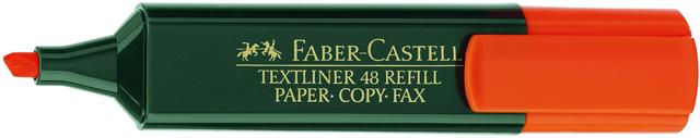 Textmarker 48 REF., Ksp., 1-5mm, Schaft: dkl.gn, Schreibf.: orange