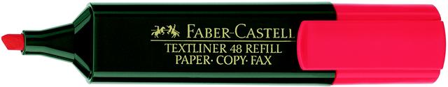 Textmarker 48 REF., Ksp., 1-5mm, Schaft: dkl.gn, Schreibf.: rot