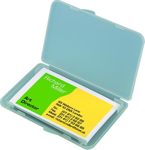 Visitenkartenbox 123 5x74x15mm Für 25 Karten Farbl Tr