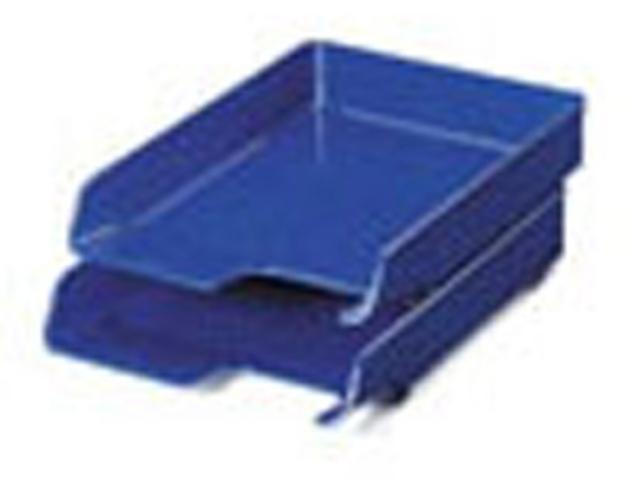 Briefkorb elegant, PS, A4, 244x335x52mm, blau