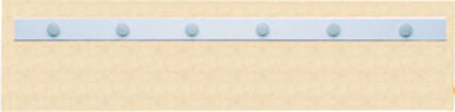 Wandleiste, sk, 50mmx100cm, weiß
