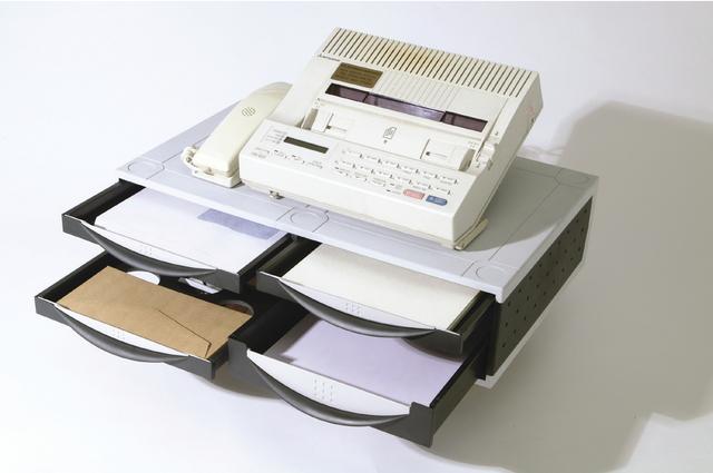 Büromaschinenständer, 51,1x39,4x14cm, Tragf.: 36kg, platin/graphit